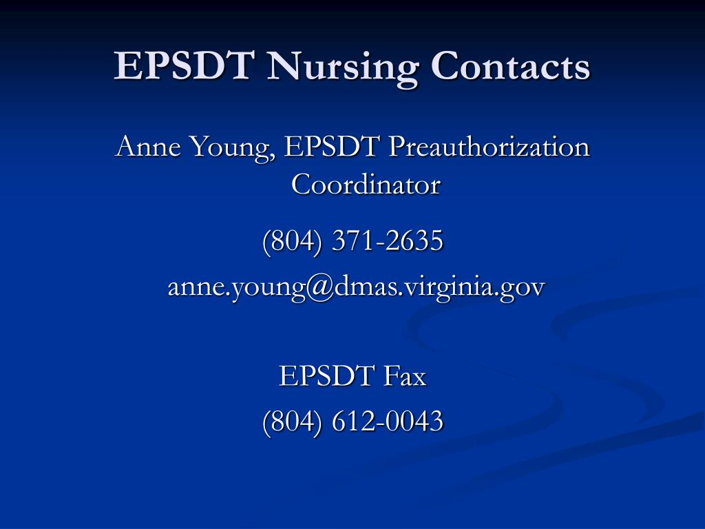 EPSDT Nursing Contacts