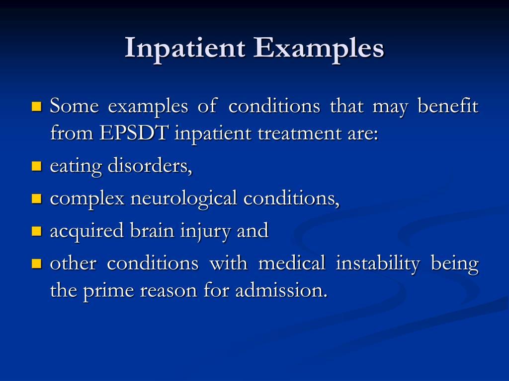 Inpatient Examples