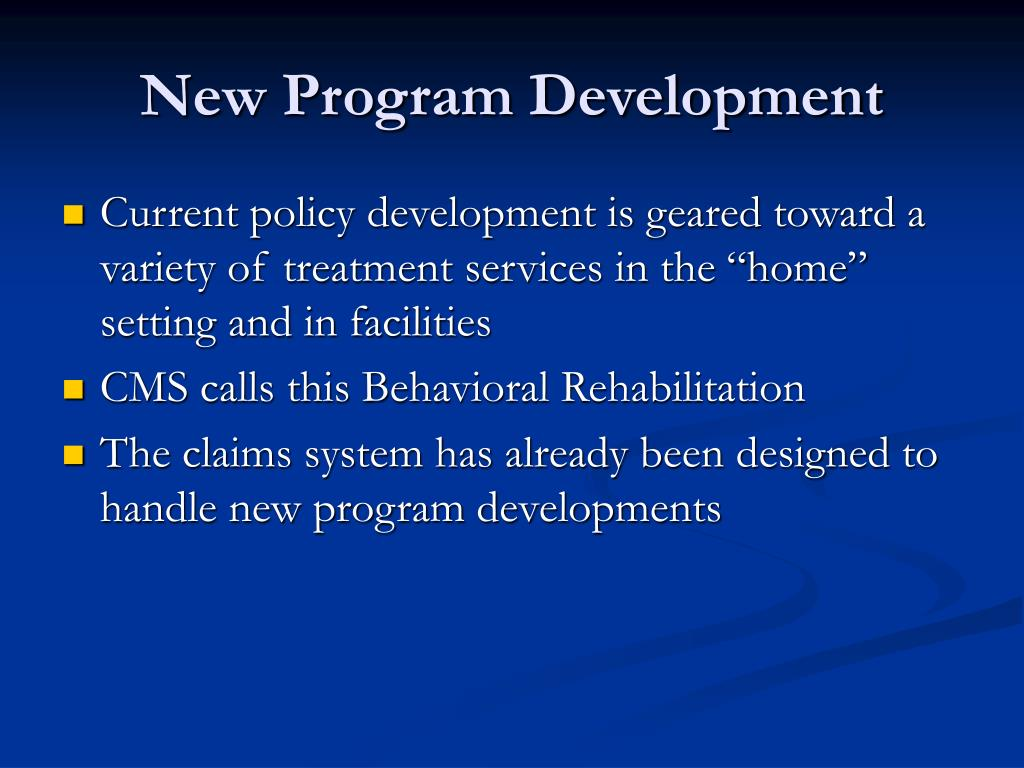 New Program Development