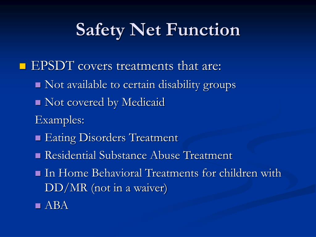 Safety Net Function