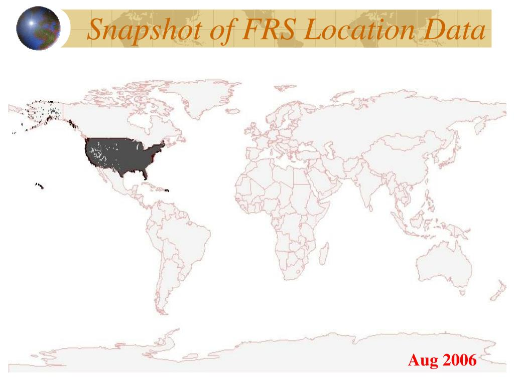 Snapshot of FRS Location Data