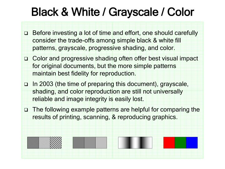 Black white grayscale color