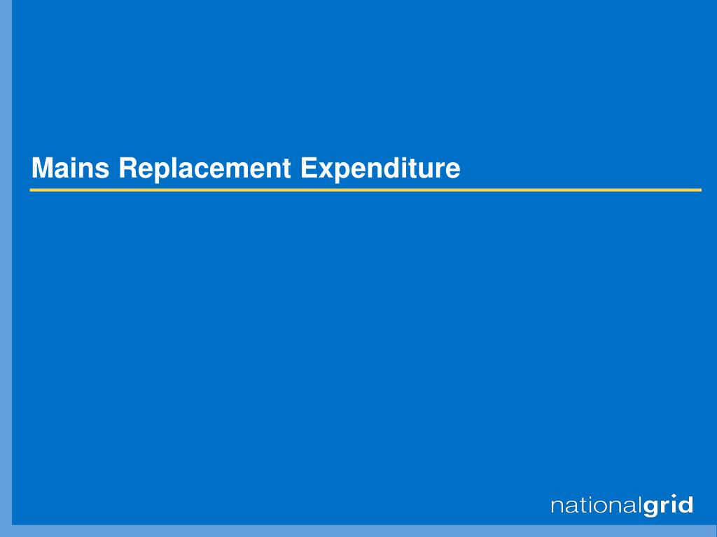 Mains Replacement Expenditure