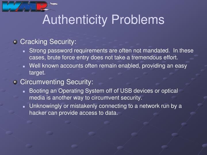 Authenticity Problems