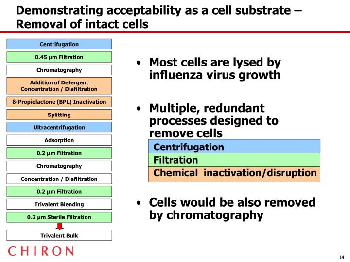 Demonstrating acceptability as a cell substrate – Removal of intact cells