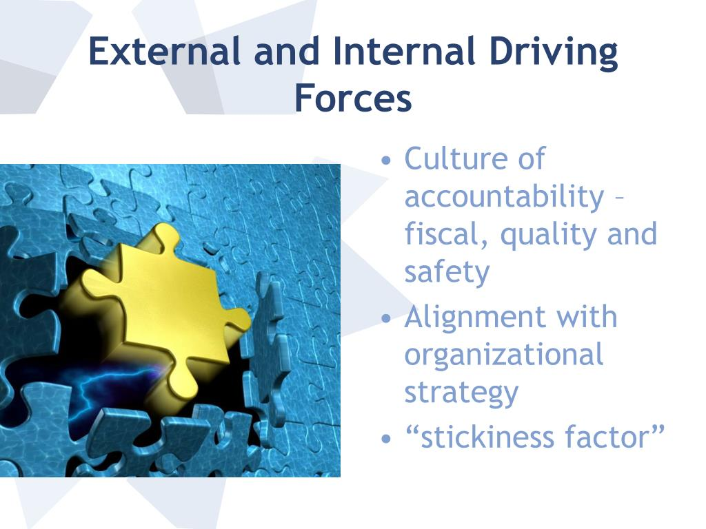 External and Internal Driving Forces