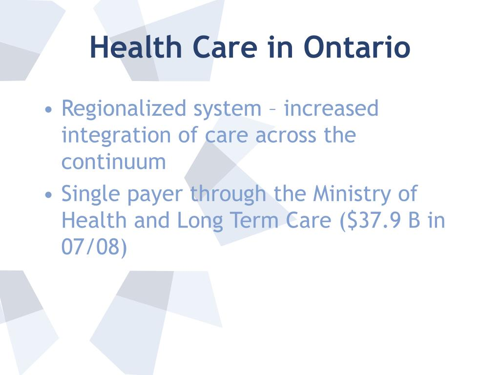 Health Care in Ontario