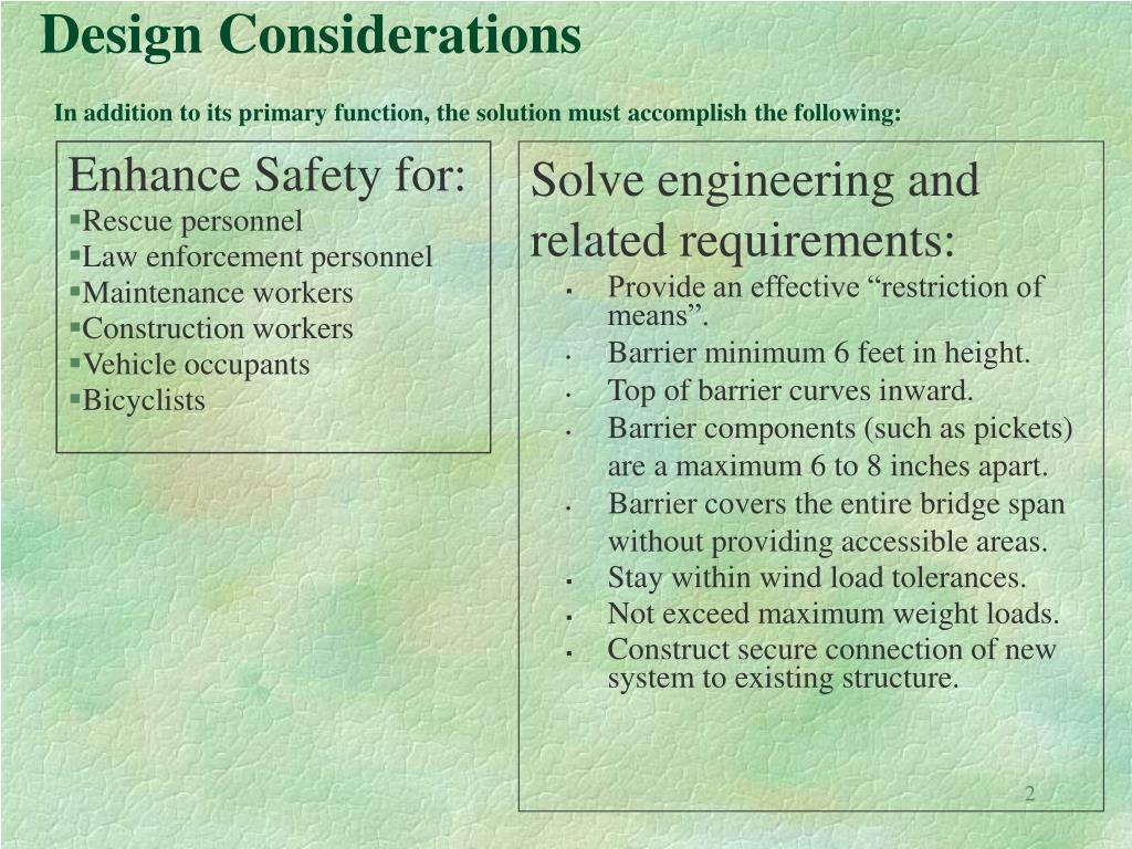 Solve engineering and related requirements: