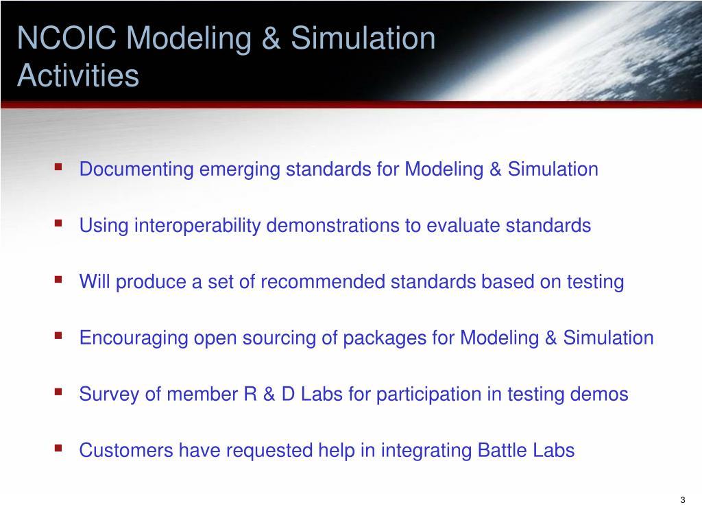 NCOIC Modeling & Simulation