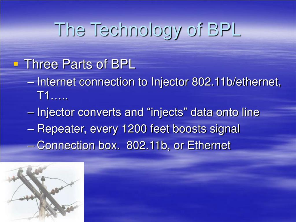 The Technology of BPL