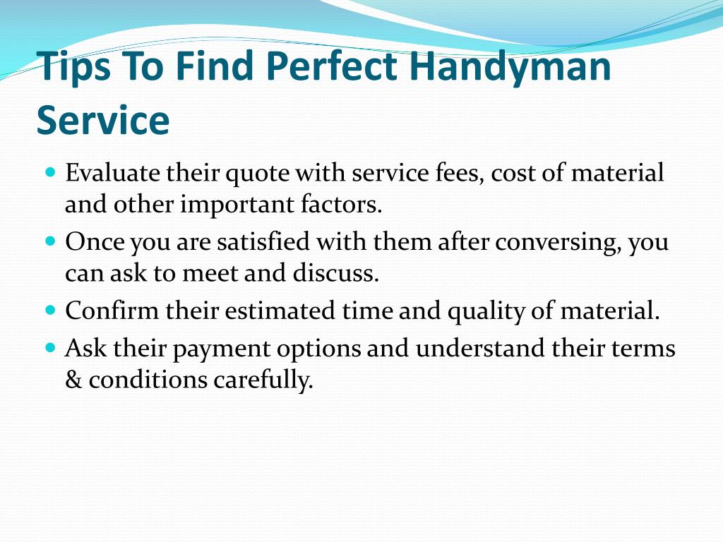Tips To Find Perfect Handyman Service
