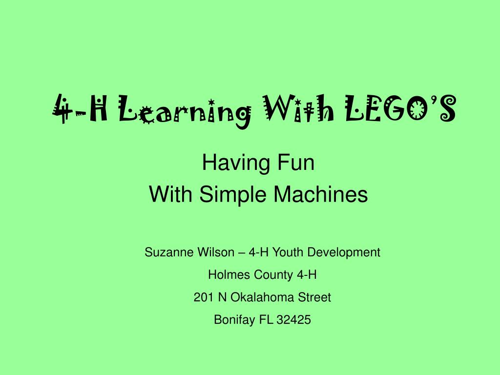 4-H Learning With LEGO'S