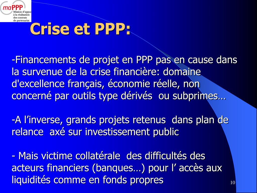 Crise et PPP: