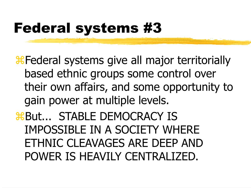 Federal systems #3