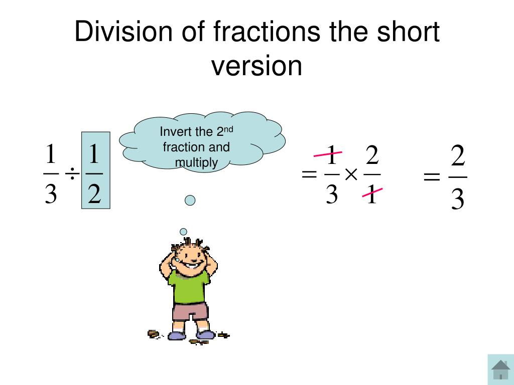 Division of fractions the short version