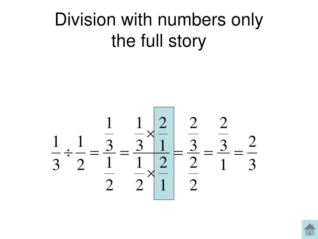 Division with numbers only