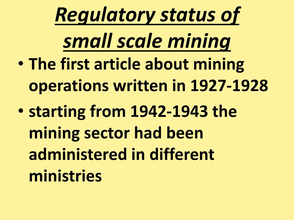 Regulatory status of