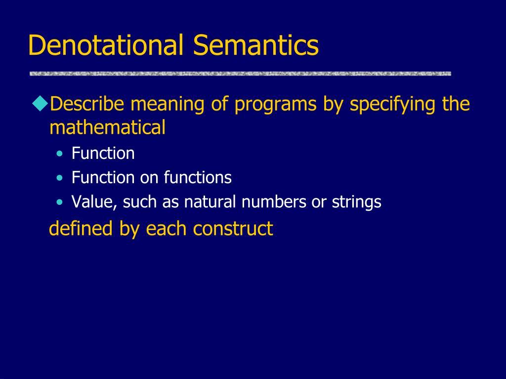 Denotational Semantics