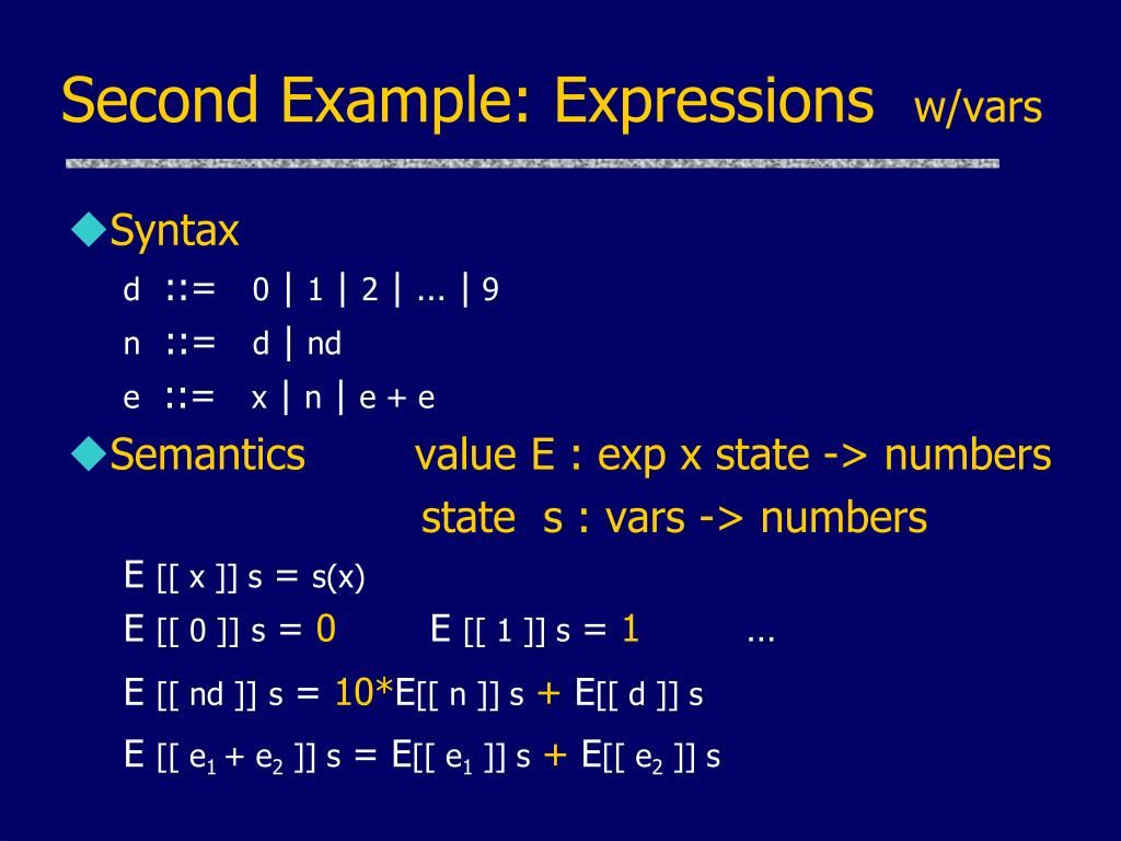 Second Example: Expressions