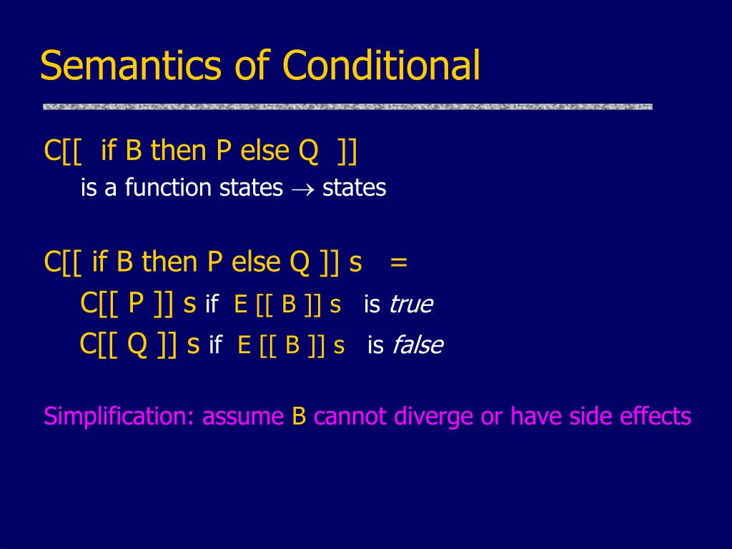 Semantics of Conditional