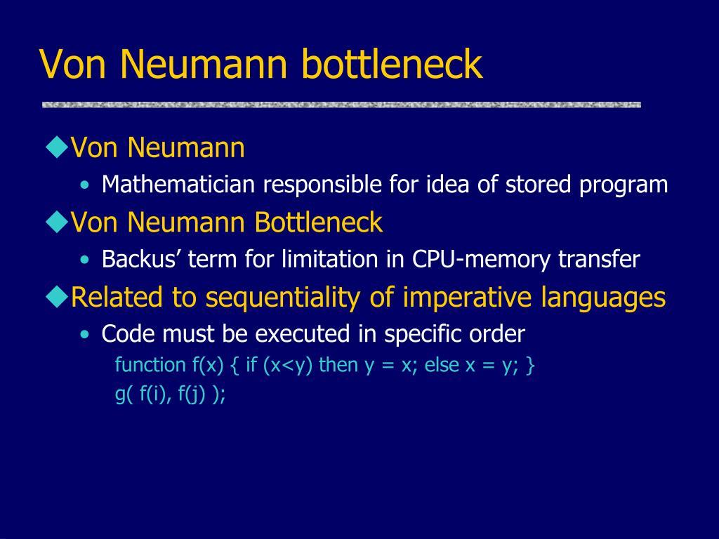 Von Neumann bottleneck