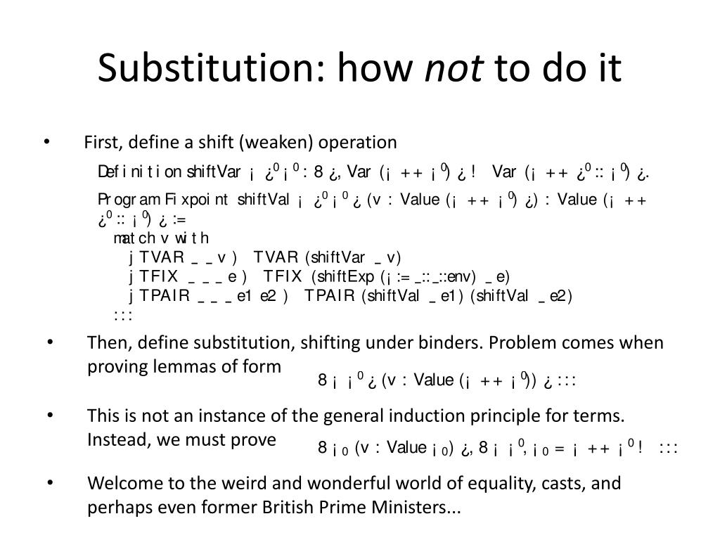 Substitution: how