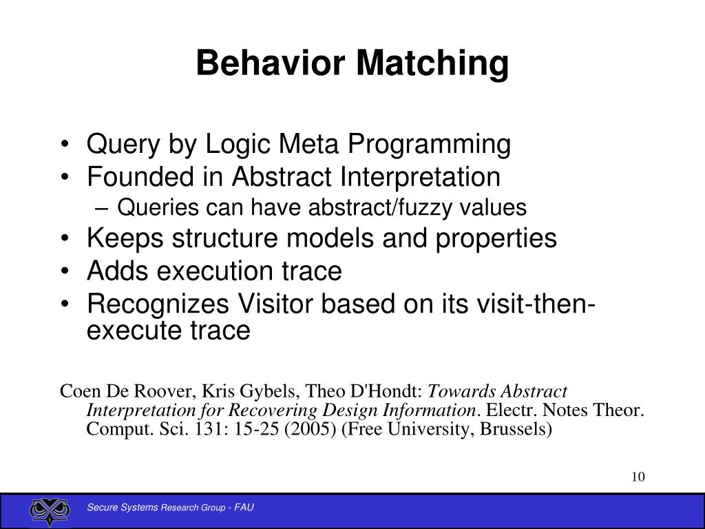 Behavior Matching