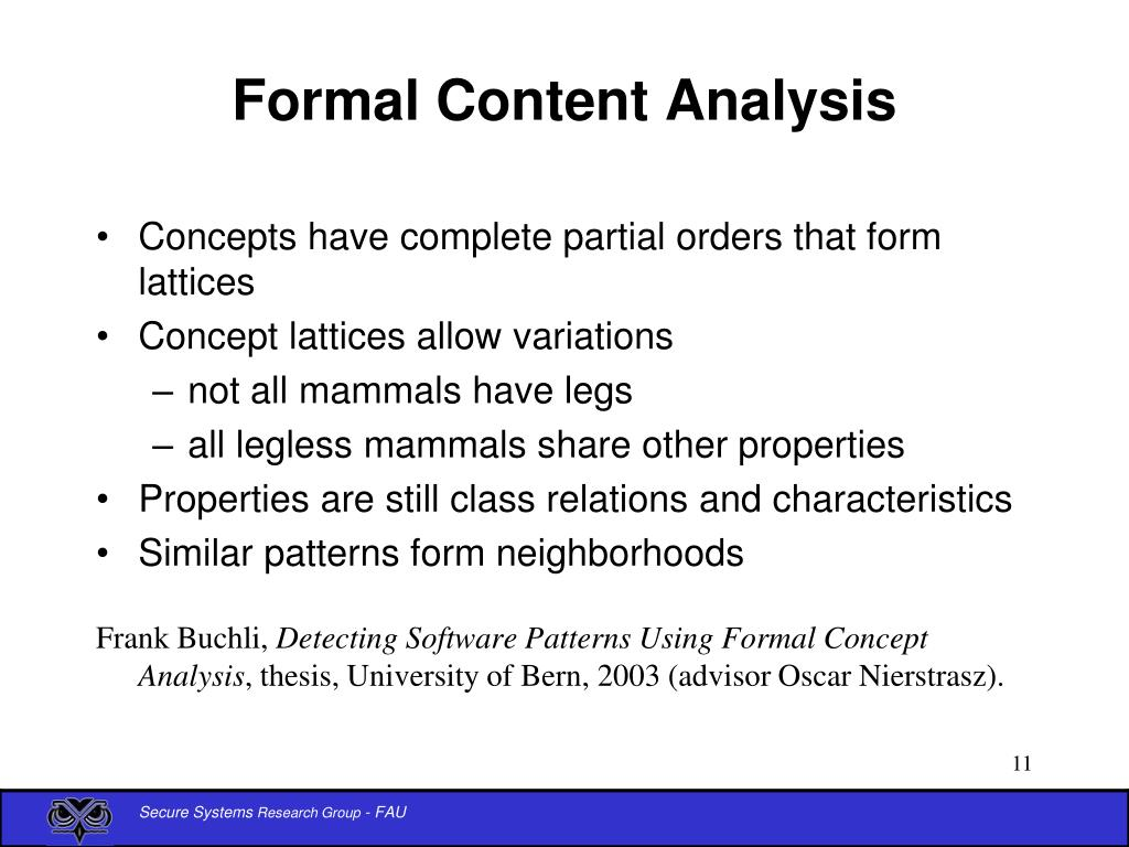 Formal Content Analysis