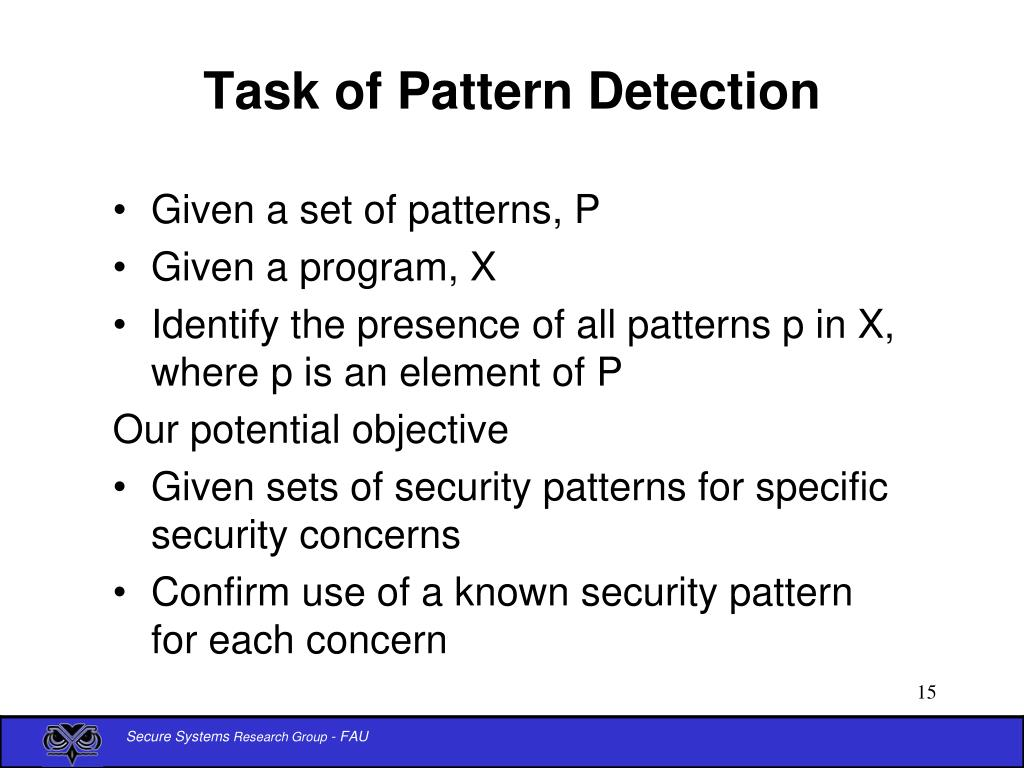 Task of Pattern Detection