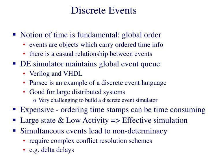 Discrete Events