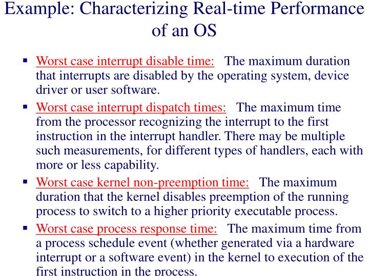 Example: Characterizing Real-time Performance of an OS