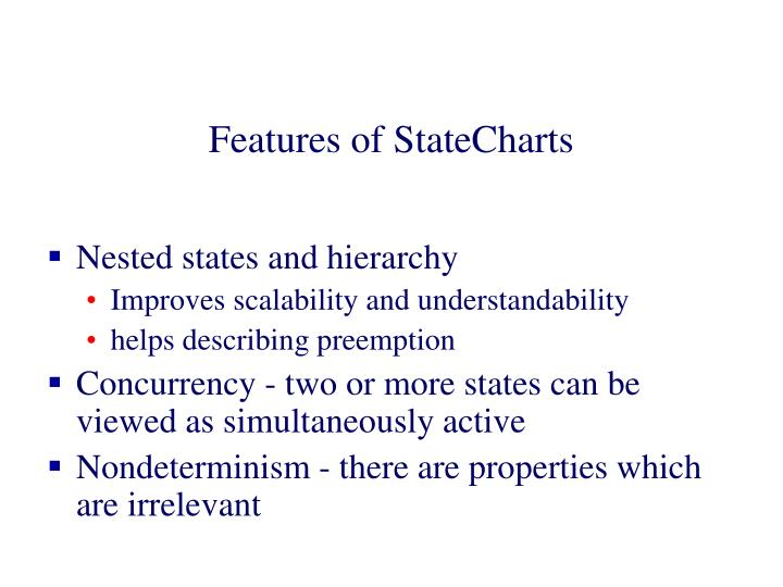 Features of StateCharts