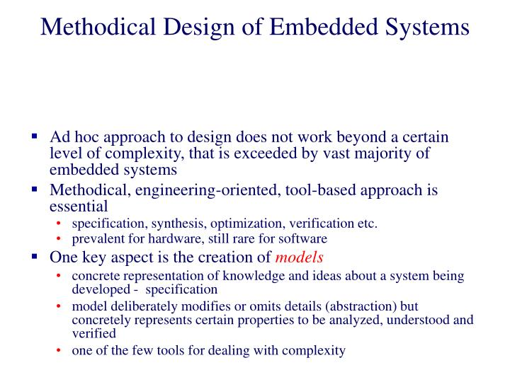Methodical Design of Embedded Systems