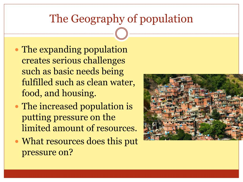 The Geography of population