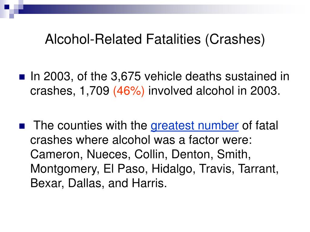 Alcohol-Related Fatalities (Crashes)