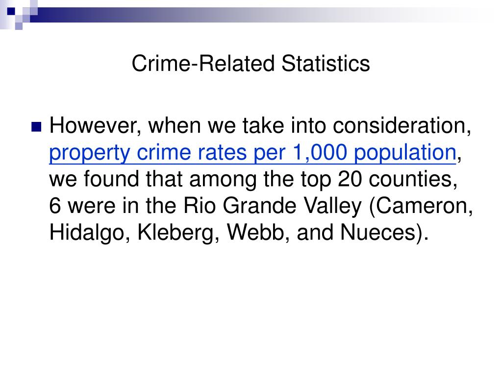 Crime-Related Statistics