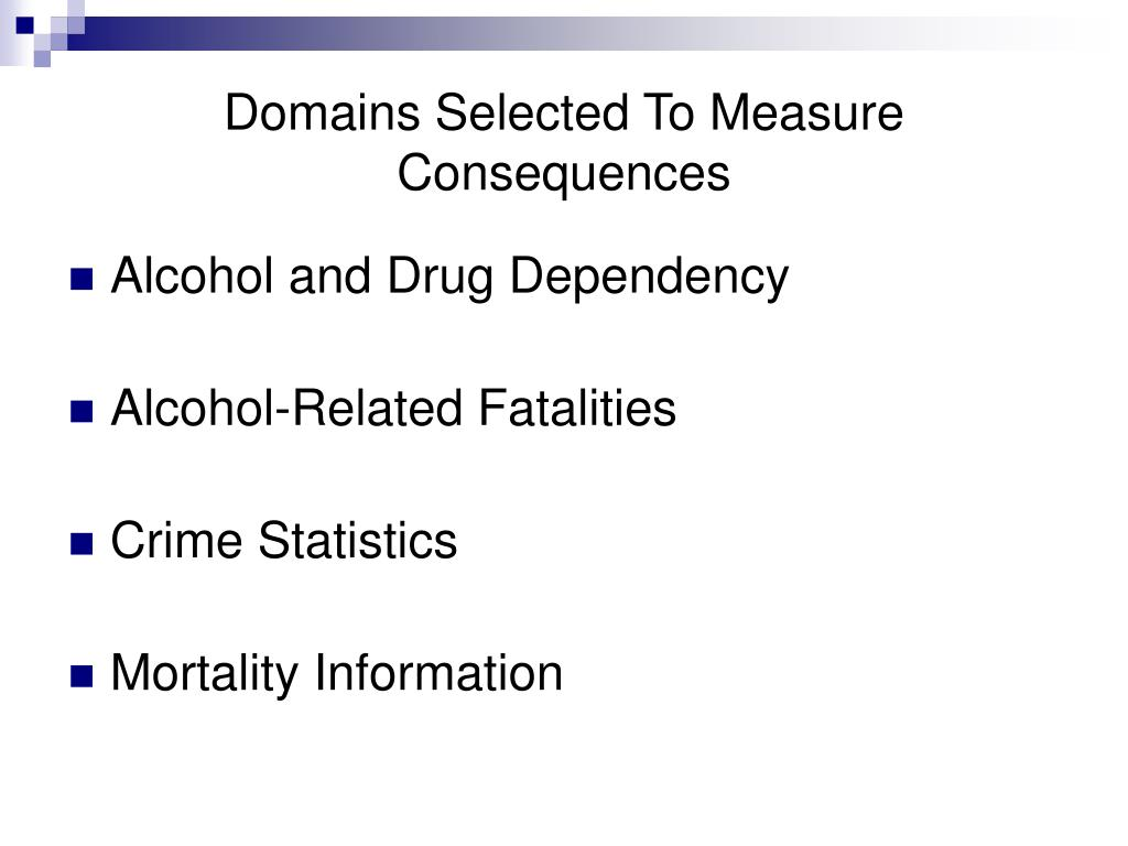 Domains Selected To Measure Consequences