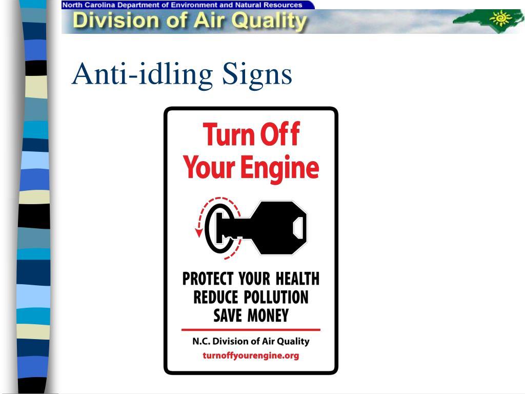 Anti-idling Signs