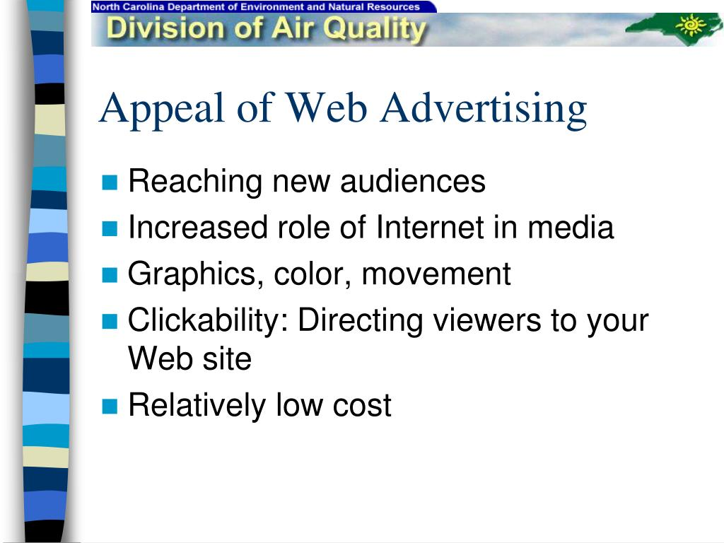 Appeal of Web Advertising