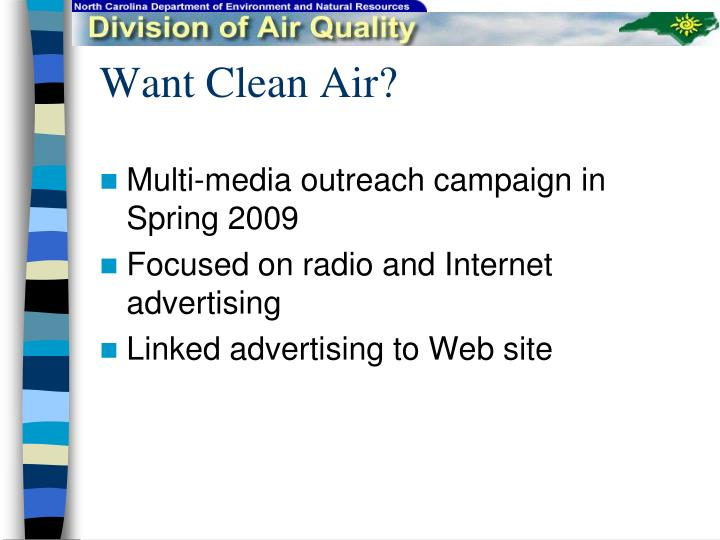 Want clean air2