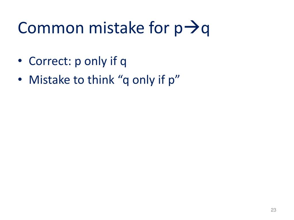 Common mistake for p