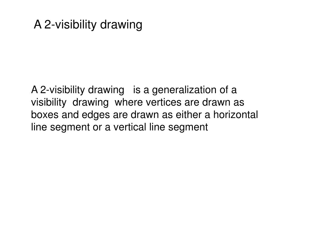 A 2-visibility drawing