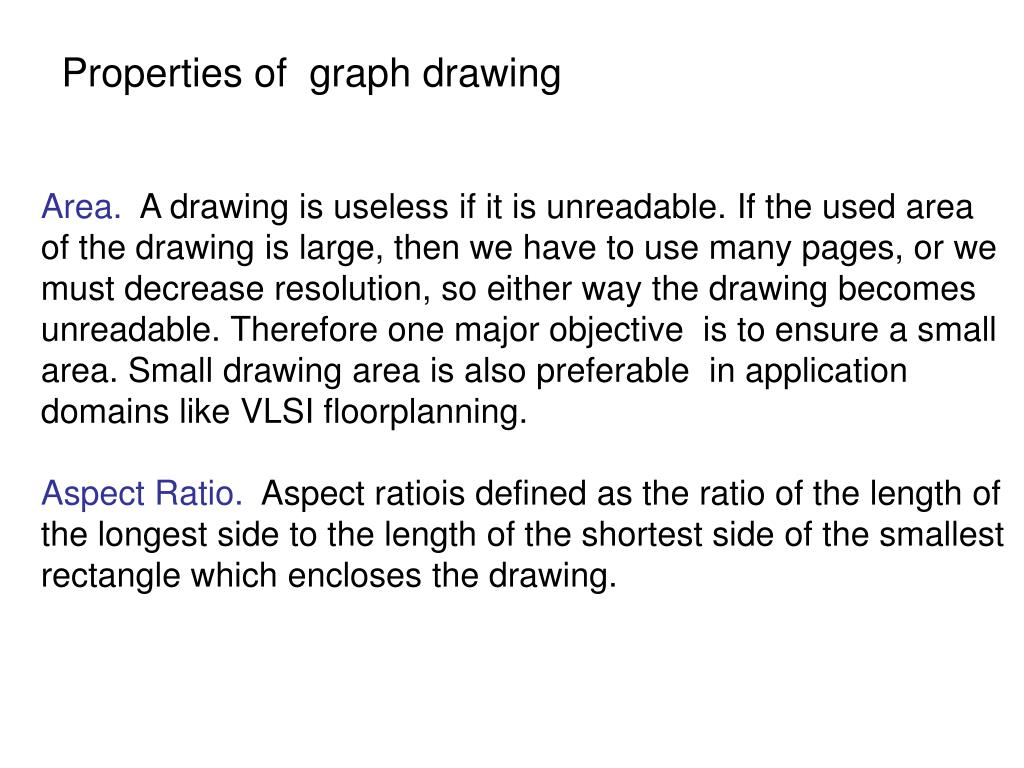 Properties of  graph drawing
