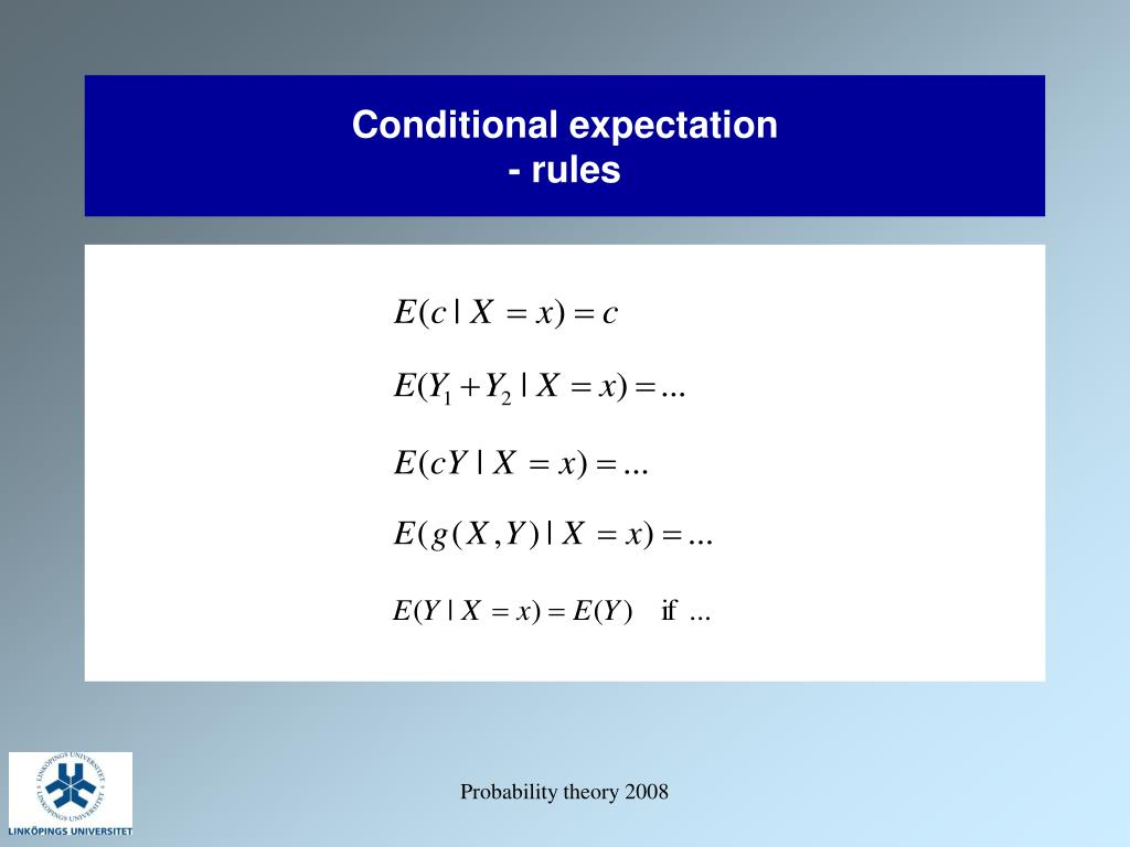 Conditional expectation