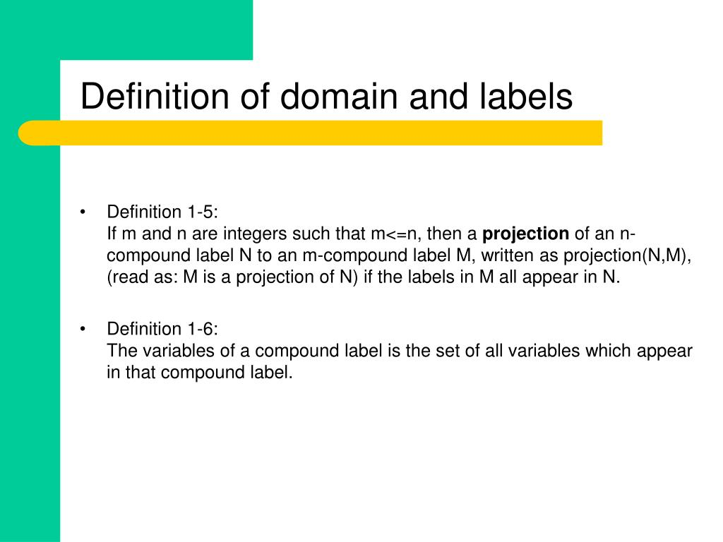 Definition of domain and labels