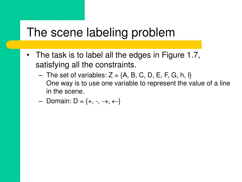 The scene labeling problem