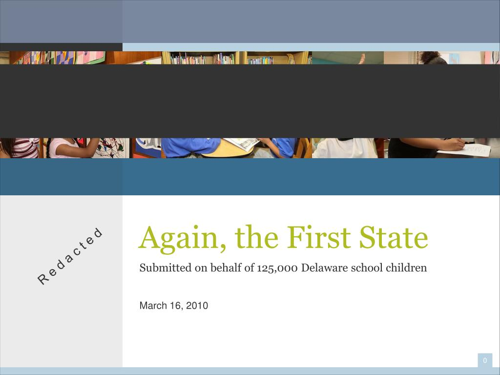 Again, the First State