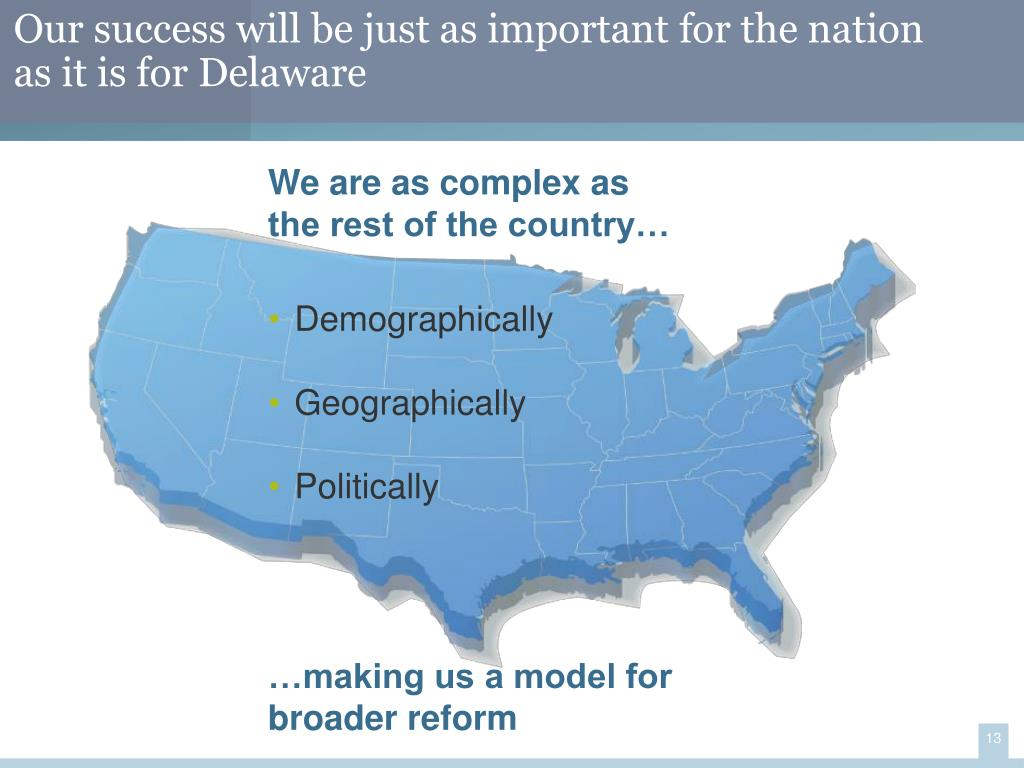 Our success will be just as important for the nation