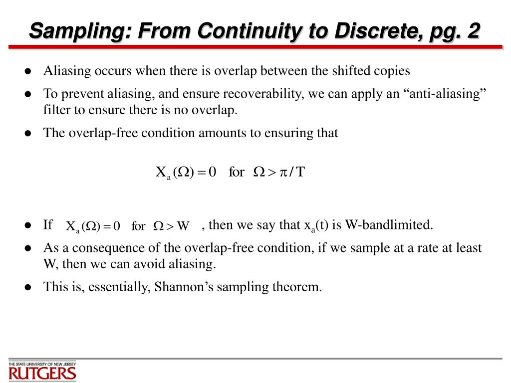 Sampling: From Continuity to Discrete, pg. 2