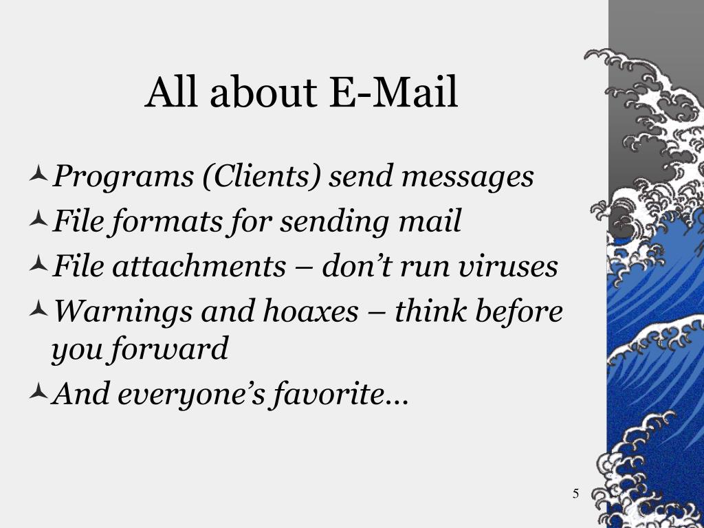 All about E-Mail